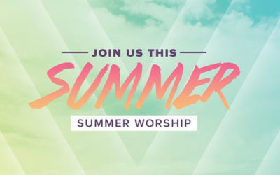 Please note our worship services this summer will be held at 9:30am.  All are welcome!